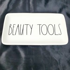 RAE DUNN Magenta Collector White Beauty Tools
